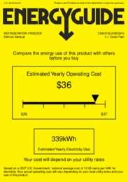 CM421BLXBISSHV Energy Guide