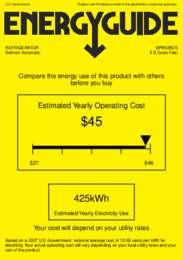 SPR625OS Energy Guide