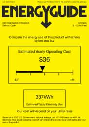 CP36BK Energy Guide