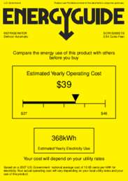 SCR1536SSTB Energy Guide