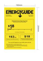 Energy Guide Label: Model W757-1 - 12 Lbs. Top Load Portable Washer