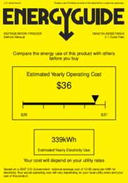 CM421BLXBISSTBADA Energy Guide