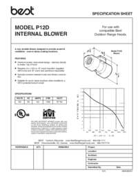 P12D Blower Specification Sheet