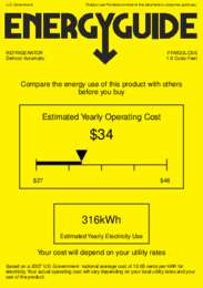FFAR22LCSS Energy Guide