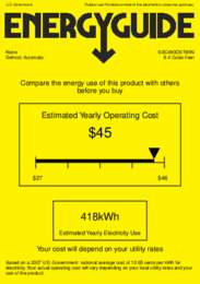 SBC490OSTWIN Energy Guide