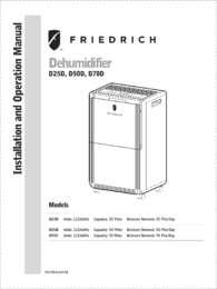 Dehumidifier Installation & Operation Manual