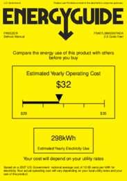 FS407LBIMEDDTADA Energy Guide