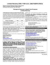 Warranty Details for ER224S