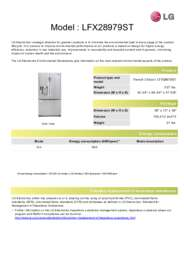 Lg Lfx28979st French Door Refrigerator With 27 6 Cu Ft