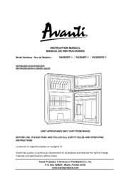 Instruction Manual: Model RA303WT-1 - 3.1 CF Two Door Counterhigh Refrigerator - White