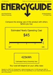 SP5DS2DSSHH Energy Guide
