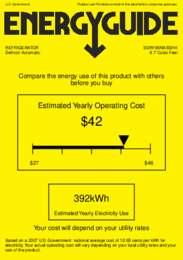 BDR190NASSHH Energy Guide