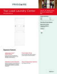 Frigidaire Fflg1011mw 27 Inch Gas Laundry Center