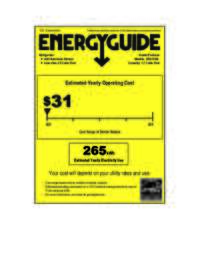 Energy Guide Label: Model AR1733B - 1.7 CF All Refrigerator - Black