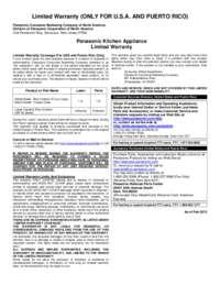 Warranty Details for SR-42FZ