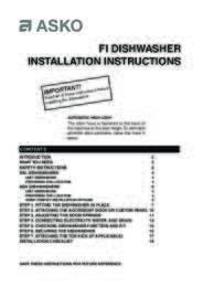 ASKO D5000 FI Series Installation Guide