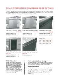 ASKO FI Dishwasher & Door Panel Specs