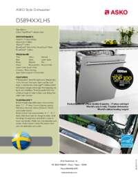 D5894XXLHS Quick Spec Sheet