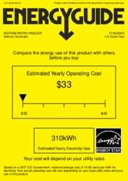FF43ESSS Energy Guide