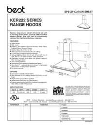BEST KER222 Specification Sheet