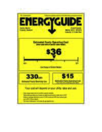 Energy Guide Label: Model W712PS - 14 Lbs. Top Load Portable Washer