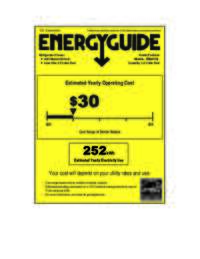 Energy Guide Label: Model RM2411B - 2.4 Cu. Ft. Refrigerator