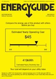 SWC525LBI Energy Guide