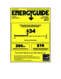 Energy Guide Label: Model DWE1814SS - Built-In Dishwasher - Stainless Steel