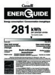 DWL2825 Energy Guide (Canada)