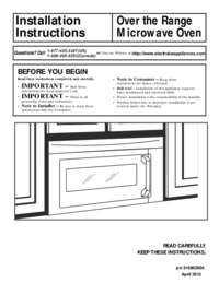 Installation Instructions (English Espa ol Fran ais)