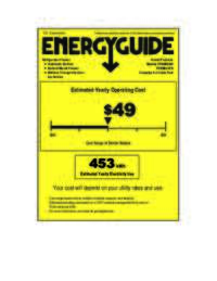 Energy Guide Label: Model FFBM923PS - Bottom Mount Frost Free Freezer / Refrigerator