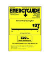 Energy Guide Label: Model RM3361B - 3.3 Cu. Ft. Refrigerator with Chiller Compartment - Black