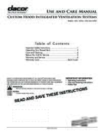 Use & Care Manuals