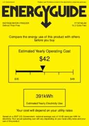 FF1074BLIM Energy Guide
