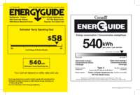 838180A Energyguide label US-CA RF170A