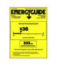 "Energy Guide Label: Model CK30-2 - 30"" Complete Compact Kitchen with Refrigerator"