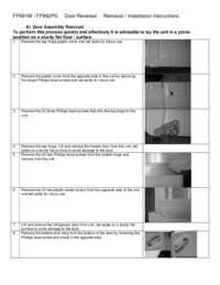 Door Reversal Instructions: Model FF993W - 10.1 Cu. Ft. Frost Free Refrigerator - White