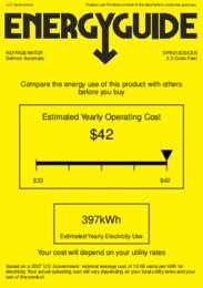 SPR315OSCSS Energy Guide