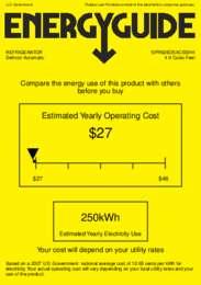 SPR626OSXCSSHH Energy Guide