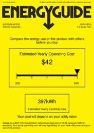 SPR315OS Energy Guide