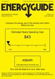 CTR21LLF2 Energy Guide