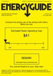 CTR17LLF2 Energy Guide