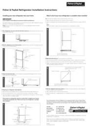 Refrigeration Installation Instructions