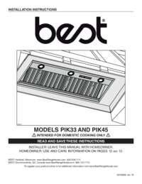 PIK33 PIK45 Installation Guide 05862 REV-18