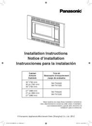 NN-TK932SS Owner's Manual (English, French, Spanish)