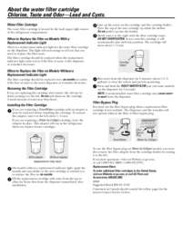 Use & Care Manual: Pre-Sept. 2013 MWF filter