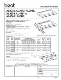 AL Series Liners Specifications Sheet 99045117A