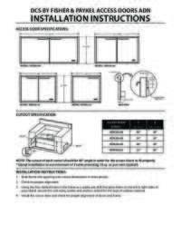 Access Door Specifications