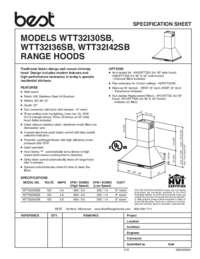 BEST WTT32I Specification Sheet 99045056A