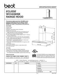 BEST Sorpresa Eclisse Specification Sheet